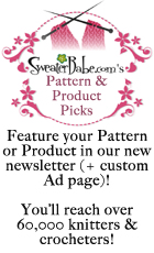 advertise by featuring your pattern or product
