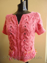 knitting pattern for top-down hello kitty cardigan