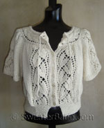 flutter-sleeved blousy lace top-down cardigan knitting pattern
