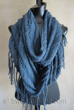 knitting pattern for boho eternity scarf