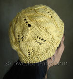 breezy lace and cable hat knitting pattern