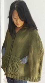 knitting pattern for covetable cabled cape