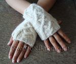 one-skein cabled fingerless gloves knitting pattern