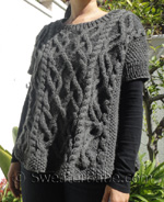 knitting pattern for cable-y goodness poncho sweater=