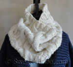 knitting pattern for double cabled cowl