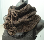 free knitting pattern for drawstring lace cowl