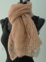 knitting pattern for blushing lace shawl scarf=