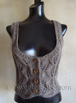 little lace vest knitting pattern