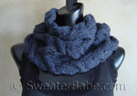 luscious cabled cowl knitting pattern
