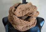 knitting pattern for luxe infinity scarf
