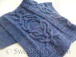 knitting pattern for malabrigo luxe cabled blanket=