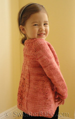 knitting pattern for three flavor delight top-down cardigan