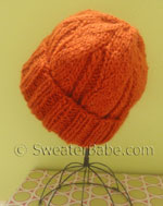 knitting pattern for one-ball chunky cuffed hat