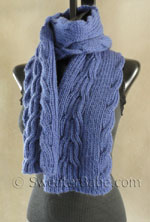 knitting pattern for reversible ribbed anniversary scarf