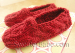 knitting pattern for one-skein sweetheart slippers