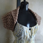 quick shawl-collared shrug knitting pattern