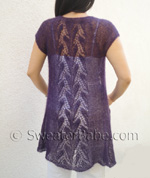 knitting pattern for whispering leaves lace top-down cardigan=