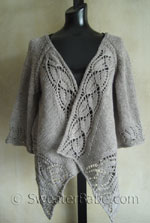 dramatic lace wrap cardigan knitting pattern
