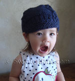 super cute newsboy cap knitting pattern