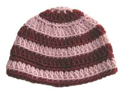 Easy Crochet Beanie Pattern Detailed View Of Crocheted Striped